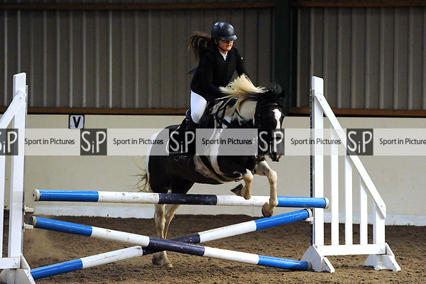 Class 7. Unaffiliated showjumping. Brook Farm Training Centre. Essex. UK. 03/12/2017. ~ MANDATORY Credit Ellen Szalai/Sportinpictures - NO UNAUTHORISED USE - 07837 394578