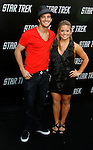 "HOLLYWOOD, CA. - April 30: Mark Ballas and Shawn Johnson  arrive at the Los Angeles premiere of ""Star Trek"" at the Grauman's Chinese Theater on April 30, 2009 in Hollywood, California."