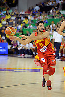 Spain's  RUBIO, Ricky during 2014 FIBA Basketball World Cup Group Phase-Group A, match Serbia vs Spain. Palacio  Deportes of Granada. September 4,2014. (ALTERPHOTOS/Raul Perez)