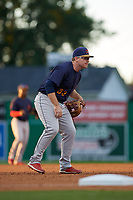 State College Spikes third baseman Brylie Ware (53) during a NY-Penn League game against the Batavia Muckdogs on August 24, 2019 at Dwyer Stadium in Batavia, New York.  State College defeated Batavia 1-0.  (Mike Janes/Four Seam Images)