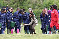 THE DUCHESS OF CAMBRIDGE VISIT FARMS FOR CITY CHILDREN<br /> Wednesday 3rd May, 2017 in London England<br /> The Duchess of Cambridge will visited Farms for City Children to see their work giving young people from inner cities the chance to spend a week on a real working farm. Her Royal Highness joined a school group of pupils and teachers as they mucked in around the farm, and met children&rsquo;s author Michael Morpurgo and his wifeClare to learn more about the organisation they founded in 1976.<br /> <br /> The charity offers urban children from all over the country a unique opportunity to live and work together for a week at a time on a real farm in the heart of the countryside. It is an intense, &lsquo;learning through doing&rsquo; experience of a different life &ndash; for children who may not know where their food comes from and have limited opportunities to explore the outside world. The organisation now has three working farms, where it welcomes around 3,200 children and 400 teachers a year.<br /> CAP/GOL<br /> &copy;GOL/Capital Pictures /MediaPunch ***NORTH AND SOUTH AMERICAS ONLY***