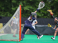 College Park, MD - May 19, 2018: Navy Ingrid Boyum (26) makes a save during the quarterfinal game between Navy and Maryland at  Field Hockey and Lacrosse Complex in College Park, MD.  (Photo by Elliott Brown/Media Images International)