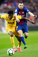 FC Barcelona's Jordi Alba (r) and Atletico de Madrid's Thomas Partey during La Liga match. March 4,2018. (ALTERPHOTOS/Acero) /NortePhoto.com NORTEPHOTOMEXICO