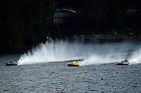 """Graham Coddington, GP-17 """"Midnight Miss"""" (1972 Lauterbach), Dave Richardson, GP-200 """"Lauterbach Special"""", (1976 Grand Prix class Lauterbach hydroplane), Bob Hampton, GP-182, Xanadu, (1982 Grand Prix class pickle-fork Lauterbach hydroplane)"""