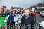 Michael O'Gorman at the Right2Water Protest march on  Saturday in Tralee