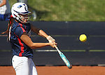Coronado's Alex Battest hits a home run against Reed High School in the 4A softball state tournament at the University of Nevada, Reno on Friday, May 19, 2012. Coronado won 6-1 to advance to Saturday's championship game. .Photo by Cathleen Allison