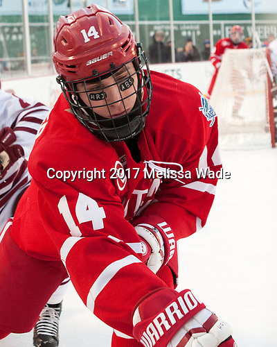 Bobo Carpenter (BU - 14) - The Boston University Terriers defeated the University of Massachusetts Minutemen 5-3 on Sunday, January 8, 2017, at Fenway Park in Boston, Massachusetts.The Boston University Terriers defeated the University of Massachusetts Minutemen 5-3 on Sunday, January 8, 2017, at Fenway Park.