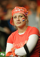 10-2-06, Netherlands, tennis, Amsterdam, Daviscup.Netherlands Russia, Dutch supporter