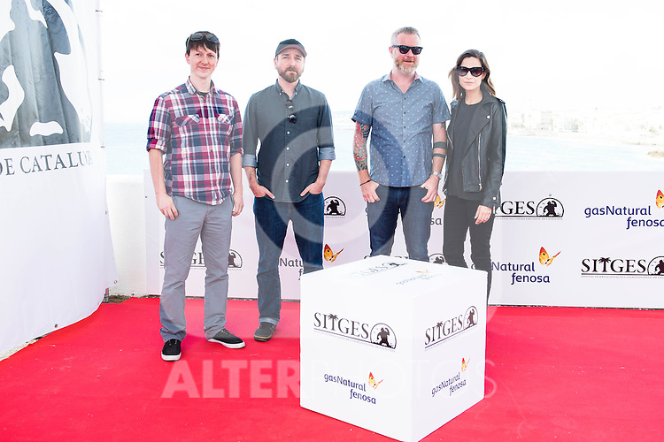 """The directors of the film, Steven Kostanski and Jeremy Gillespie, the producer Casey Walker and the actress Kathleen Munroe pose to the media during the presentation of the film """"The Void"""" at the Festival de Cine Fantastico de Sitges in Barcelona. October 08, Spain. 2016. (ALTERPHOTOS/BorjaB.Hojas)"""