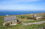 Houses along the west coast of Cape Clear Island, County Cork, Ireland, Irish Republic