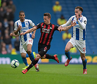 Brighton & Hove Albion's Davy Propper (right) battles with Huddersfield Town's Jonathan Hogg (left) <br /> <br /> Photographer David Horton/CameraSport<br /> <br /> The Premier League - Brighton and Hove Albion v Huddersfield Town - Saturday 2nd March 2019 - The Amex Stadium - Brighton<br /> <br /> World Copyright © 2019 CameraSport. All rights reserved. 43 Linden Ave. Countesthorpe. Leicester. England. LE8 5PG - Tel: +44 (0) 116 277 4147 - admin@camerasport.com - www.camerasport.com