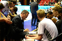 GRONINGEN - Basketbal, Donar - Den Helder Suns, Martiiniplaza,  kwartfinale playoff, seizoen 2018-2019,  30-04-2019,  time ut met Donar coach Erik Braal