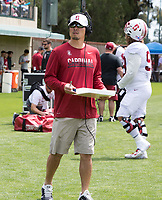 Stanford, CA - April15, 2017:  Coach Tsuyoshi Kawata at Cagan Stadium.