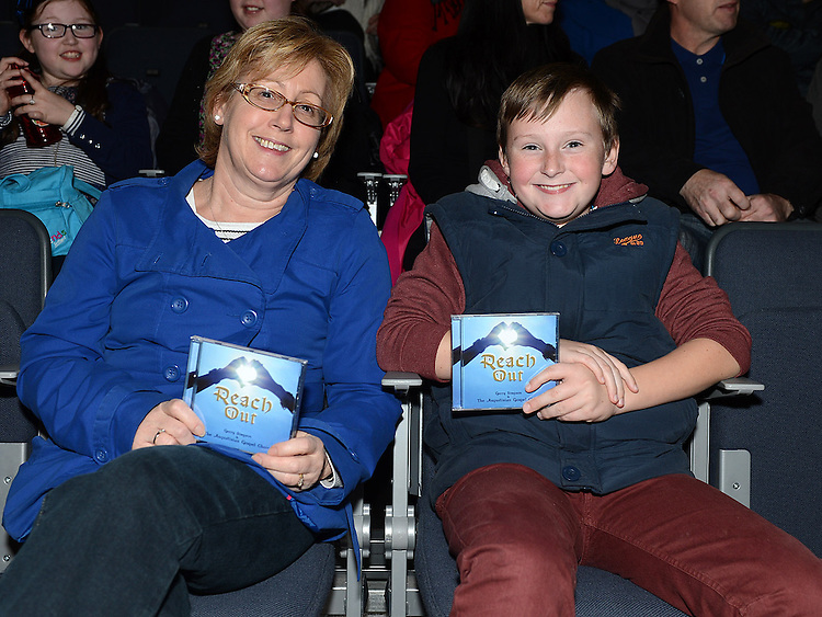 Carol and David Saurin pictured at the Augustinian Gospel Choir show at the Barbican Centre. Photo:Colin Bell/pressphotos.ie