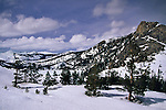 Echo Lakes area in winter, near Lake Tahoe, California