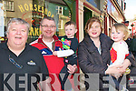 Lotto Winner : Mike & Marianne Gilbert, Liselton with their children Joseph & Ellen celebrating  their recent Lotto win at the Horseshoe Bar in Listowel on Saturday with proprietor Gerry Behan, left.