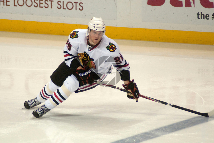 February 21,  2011     Chicago Blackhawks left wing Bryan Bickell (29) skates during the first period. The St. Louis Blues hosted the Chicago Blackhawks on Monday February 21, 2011 at the Scottrade Center in downtown St. Louis in an afternoon game on Presidents Day.