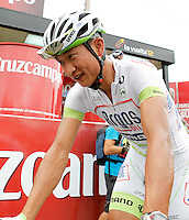 Cheng Ji during the stage of La Vuelta 2012 between Barakaldo and Valdezcaray.August 21,2012. (ALTERPHOTOS/Acero) /NortePhoto.com