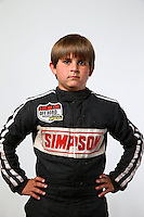 Mar. 21, 2014; Chandler, AZ, USA; LOORRS junior 1/junior 2 driver Mason Prater poses for a portrait prior to round one at Wild Horse Motorsports Park. Mandatory Credit: Mark J. Rebilas-USA TODAY Sports