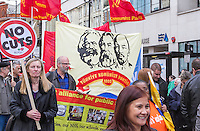 Mayday 2015 Trade Unions and Anti Imperialist Mayday March from Clerkenwell to Trafalgar Square
