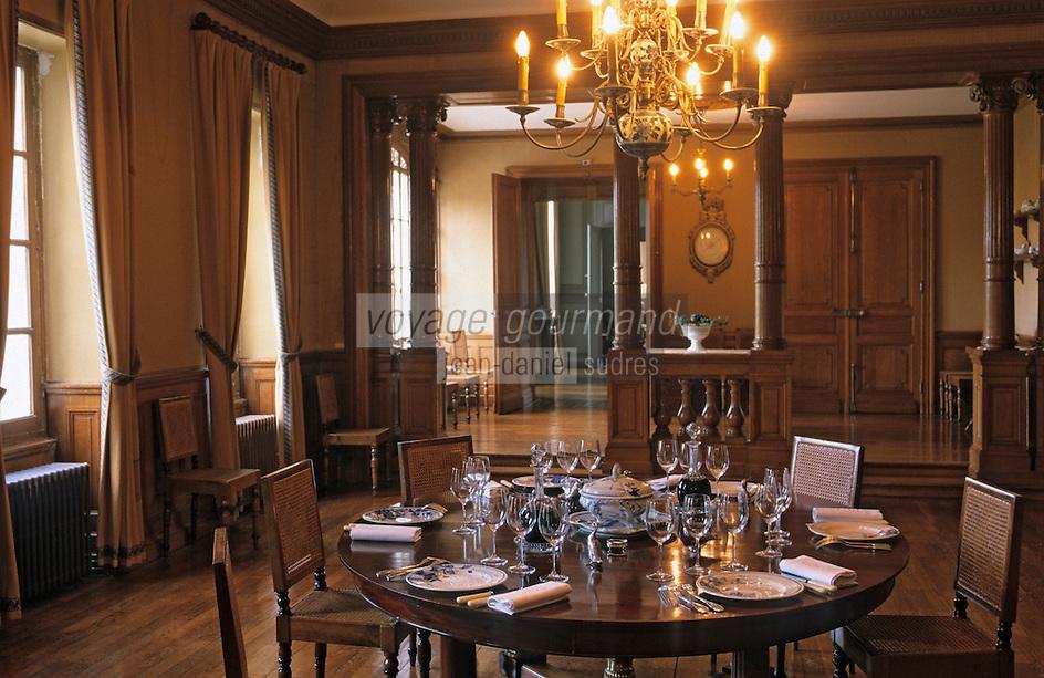 Europe/France/Aquitaine/33/Gironde/Pauillac: château Pontet Canet (AOC Pauillac) - La salle à manger