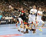 10.01.2019, Mercedes Benz Arena, Berlin, GER, Handball WM 2019, Deutschland vs. Korea, im Bild <br /> Jannik Kohlbacher (GER #48), PARK Young Jun (Korea #17), KANG Tan (Korea #7)<br /> <br />      <br /> Foto © nordphoto / Engler