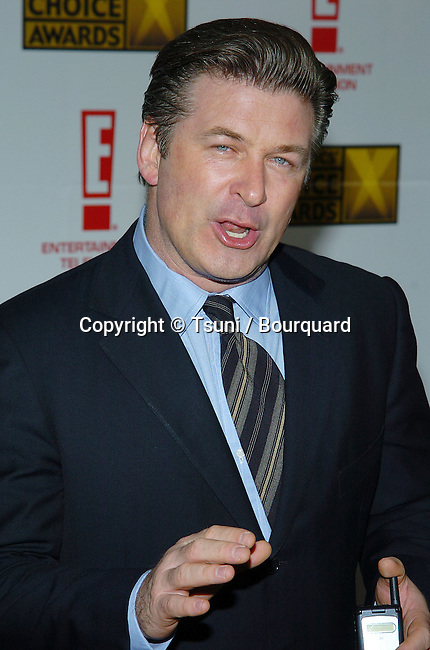 Alec Baldwin arriving at the 9th Annual Critics' Choice Awards at the Beverly Hills Hotel in Los Angeles. January, 10, 2004.