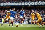 14.09.2019 Rangers v Livingston: Scott Arfield tries to thread his way through to goal
