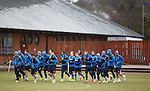 Rangers training on the youth pitches as Inter Milan take over the main training park for their Thursday Cup euro match