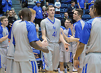 December 12, 2015 - Colorado Springs, Colorado, U.S. -  Air Force center, Zach Moer #41, is introduced prior to an NCAA basketball game between the Army West Point Black Knights and the Air Force Academy Falcons at Clune Arena, U.S. Air Force Academy, Colorado Springs, Colorado.  Army West Point defeats Air Force 90-80.