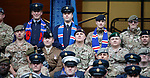 14.09.2019 Rangers v Livingston: Members of the armed forces at Ibrox Stadium ahead of this afternoon's match