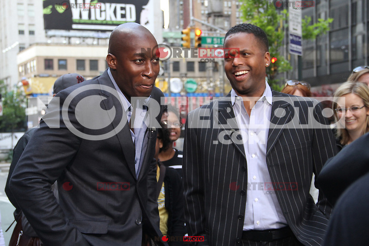May 10, 2012 AJ Calloway interviews Jermaine Paul on the show Extra to talk about his win in the NBC TV series The Voice in New York City..Credit: RW/MediaPunch Inc.