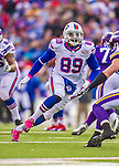 19 October 2014: Buffalo Bills tight end Chris Gragg in action during the second quarter against the Minnesota Vikings at Ralph Wilson Stadium in Orchard Park, NY. The Bills defeated the Vikings 17-16 in a dramatic, last minute, comeback touchdown drive. Mandatory Credit: Ed Wolfstein Photo *** RAW (NEF) Image File Available ***
