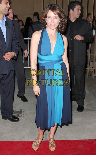"JENNIFER GREY.""Redbelt"" Los Angeles Premiere held at the Egyptian Theatre, Hollywood, California, USA..April 7th, 2008.full length blue dress turquoise.CAP/ADM/CH.©Charles Harris/AdMedia/Capital Pictures"
