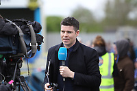 BT Sport presenter during the Vanarama National League North match between Nuneaton Town and Stockport County at the Liberty Way Stadium, Nuneaton, England on 27 April 2019. Photo by James  Gill.