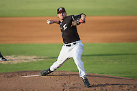 Kannapolis Intimidators starting pitcher Max Beatty (22) in action against the Lexington Legends at Kannapolis Intimidators Stadium on July 14, 2016 in Kannapolis, North Carolina.  The Kannapolis Intimidators defeated the Lexington Legends 4-2.  (Brian Westerholt/Four Seam Images)