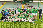 The Sem, Killarney, celebrate their victory over Pobalscoil Chorca Dhuibhne at Austin Stack Park on Wednesday.