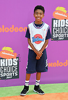 Miles Brown at Nickelodeon's Kids' Choice Sports 2017 at UCLA's Pauley Pavilion. Los Angeles, USA 13 July  2017<br /> Picture: Paul Smith/Featureflash/SilverHub 0208 004 5359 sales@silverhubmedia.com