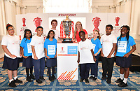 """Picture by Simon Wilkinson/SWpix.com - 19/06/2018 - Rugby League World Cup 2021 """"Inspired By"""" Launch Event, The Mansion House, City of London<br /> - James Simpson and Jodie Cunningham"""