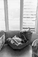 September 1980, Miami Beach, USA. Old man living alone in his room. Image by © JP Laffont