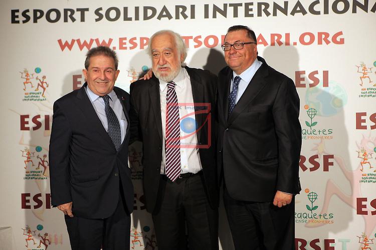 XIe Sopar Solidari d'ESI (Esport Solidari Internacional).<br /> Josep Maldonado &amp; Ramon Agenjo.
