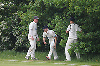 Ball search during Goresbrook CC (Bowling)  vs Rainham CC (Batting), T Rippon Mid Essex Cricket League Cricket at May & Baker Sports Club on 12th May 2018