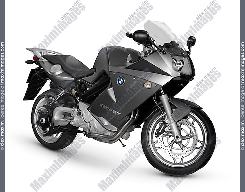 2007 BMW F 800 ST middleweight sport touring motorcycle Isolated silhouette with clipping path on white background
