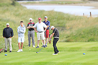 Ed Hickey (Shannon) on the 13th tee during Round 3 of The South of Ireland in Lahinch Golf Club on Monday 28th July 2014.<br /> Picture:  Thos Caffrey / www.golffile.ie