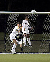 "Boston College forward Natalie Crutchfield (9) heads the ball. Boston College defeated West Virginia, 4-0, in NCAA tournament ""Sweet 16"" match at Newton Soccer Field, Newton, MA."