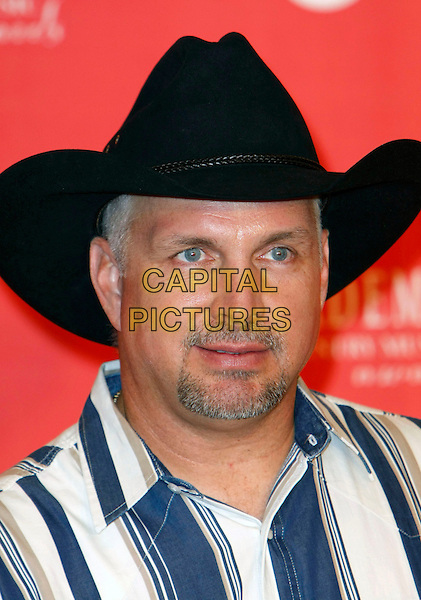 GARTH BROOKS.The 43rd Annual Academy of Country Music Awards held at the MGM Grand Garden Arena,  Las Vegas, Nevada, USA..May 18th, 2008.headshot portrait black stetson cowboy hat goatee facial hair.CAP/ADM/MJT.© MJT/AdMedia/Capital Pictures.