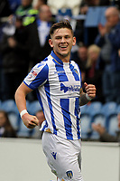 Sean Murray of Colchester United celebrates getting the first goal of the game during Colchester United vs Mansfield Town, Sky Bet EFL League 2 Football at the Weston Homes Community Stadium on 7th October 2017