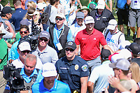 Jon Rahm (ESP) shakes hands with the crowd enroute to 7  during round 7 of the World Golf Championships, Dell Technologies Match Play, Austin Country Club, Austin, Texas, USA. 3/26/2017.<br /> Picture: Golffile | Ken Murray<br /> <br /> <br /> All photo usage must carry mandatory copyright credit (&copy; Golffile | Ken Murray)