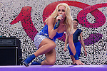 02.06.2012. Marta Sanchez performs during in the ´Cadena 100´ 20 th anniversary Concert at the stadium Vicente Calderon in Madrid. In the image: Marta Sanchez   (Alterphotos/Marta Gonzalez)