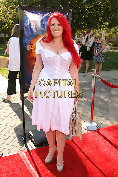 "JANE GOLDMAN.""Stardust"" Los Angeles Premiere held at Paramount Studios, Hollywood, California, USA, 29 July 2007..full length dyed red hair cleavage white Vivienne Westwood dress buttons collar.CAP/ADM/RE.©Russ Elliot/AdMedia/Capital Pictures."